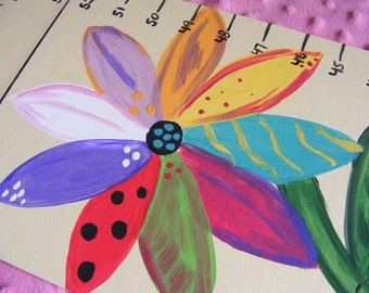 Foldable Children's Growth Chart, Growing Like a Flower