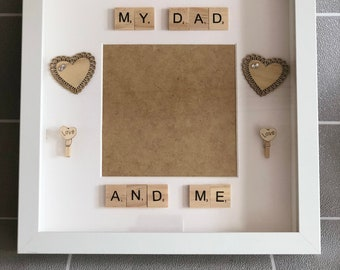 My Dad And Me scrabble frame