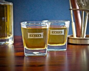Groomsmen Gift – Personalized Whiskey Glasses – Engraved