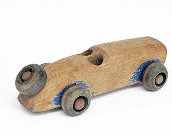Vintage Wood Toy Car