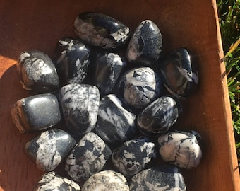 Chrysanthemum Stone/Flower Stone Tumbles - Synchronicity, Joy, Happiness, Prosperity