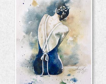 lillian - Fine Art Print, Watercolor Print