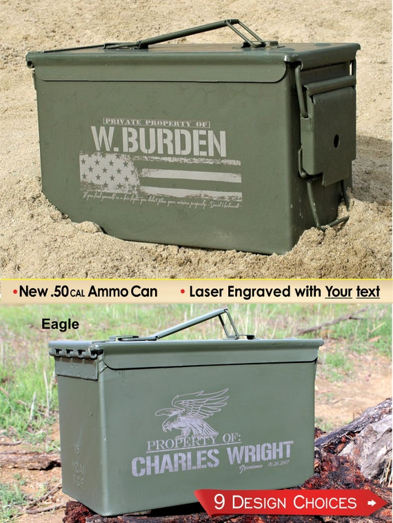 Personalized Dad Gift Ammo Box - Can you imagine the fun things he'll store?!
