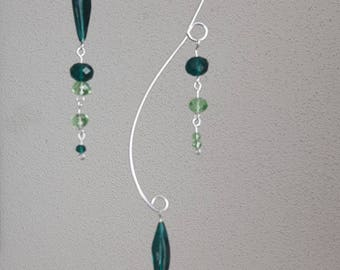 Glass Suncatcher Green