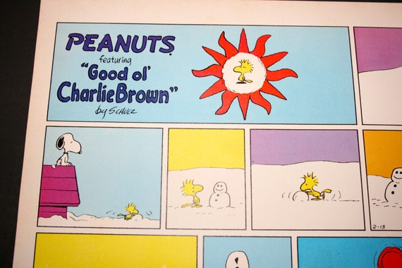 Snoopy snowmen and Woodstock Charlie Brown comic strip