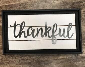 Thankful Sign, Black
