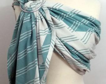 Tekhni wrap conversion ring sling- Pragma Jade - WCRS, ivory, white, blue green, turquoise