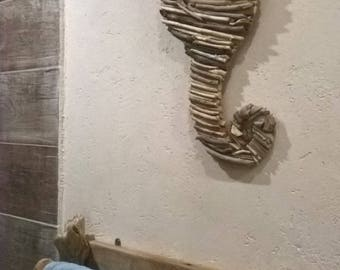 Seahorse Driftwood for wall décor