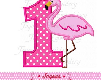 Instant Download Flamingo Number 1 Applique Embroidery Design NO:2111