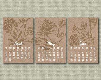 INSTANT DOWNLOAD/Mini calendar 2018/Office planner/Desk Calendar/Instant calendar/Printable calendar 2018/Gift for Her/Floral calendar/JPEG