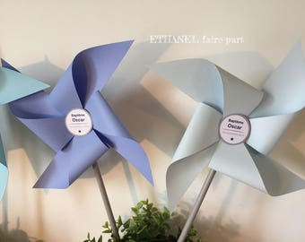 Set of 7 large pinwheels wind wedding