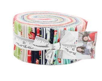 Smitten Jelly Roll (42 - 2 1/2 x WOF Strips) designed by Bonnie Camille for Moda Fabrics