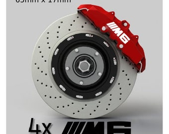 Set of 4 stickers of BMW M6 brake calipers