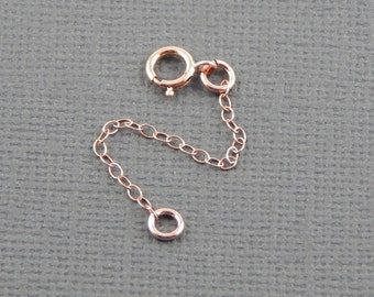 "Necklace extender - 1"" , 2"", 3"", 4"" or 5"", rose gold filled extender chain"