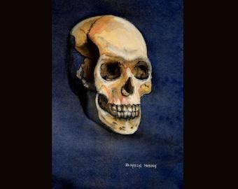 Ars longa, vita brevis - Original Watercolor