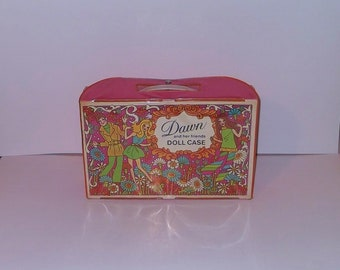 Dawn and Her Friends 1971 Doll Carrying Case with Built in Closet