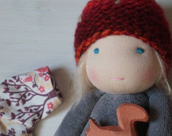 """Preoder for little kra * child of the forest * handmade * 11"""" waldorf * organic *"""