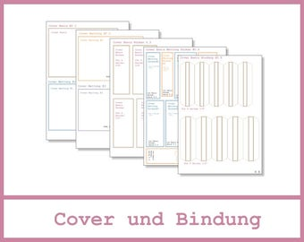 6x4 Mini Album - Anleitung - Cover und Bindung - 0.1 bis 0.5
