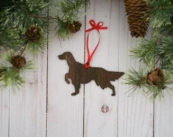 Customizable Irish Setter Christmas Tree Ornament | Personalized Dog Ornament