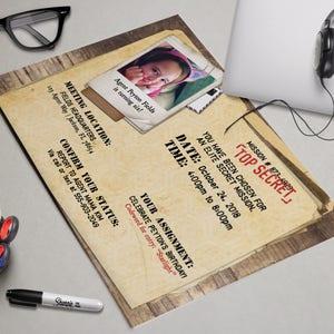 Secret Agent Printable Birthday Party Invitation - CIA, Secret, Top Secret,  Classified Mission