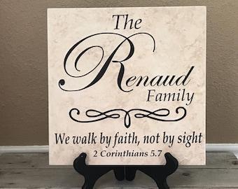Spiritual Gift, Name Tile, Family Gifts, Wedding Gifts, Personalized Gifts, Personalized Sign, Last Name Sign, Birthday Gifts, Wedding Gift