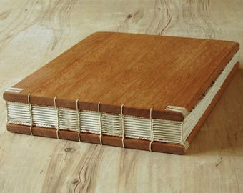 wood instant photo guestbook wedding scrapbook- instant photo album  handmade mahogany wood book rustic natural memorial - made to order
