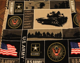 U.S. Army fleece blanket