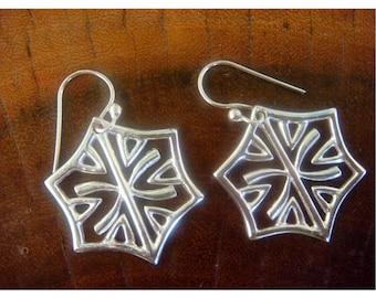 Sterling Silver Filigree Earrings, Silver jewelry, 925 Sterling Silver Earrings - Earrings for Women