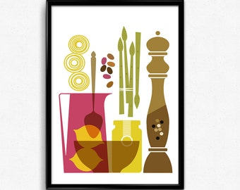 Kitchen decor, Printable Kitchen wall art, Kitchen print