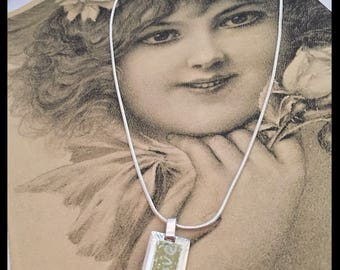 Vintage Sterling Silver 925 Italy Reversible Love Pendant Necklace, LOVE Pendant Charm Made in Italy 925 1187 VI, 925 Chain, Gifts Under 35