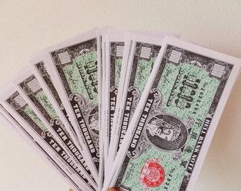 Chinese Hell Money Joss Paper Scrapbook Paper Asian Paper Fake Money Boho Paper Chinese Paper Ephemera Paper Money