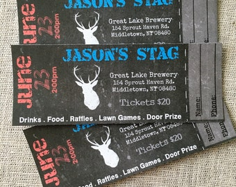 STAG BUCK Bachelor EVENT Tickets Diy - Digital - Printed Options