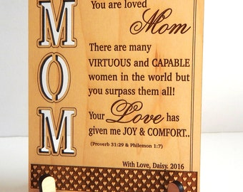 Mothers Day Gift from Daughter-Son - Gifts for Mom Personalized - Mom Birthday Gift -Mother's Day Gift, PLM008