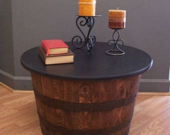 Whiskey Barrel Coffee Table End Table FREE SHIPPING