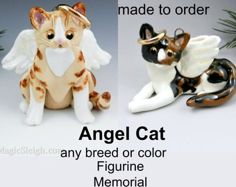 Race de chat ange ou couleur Noël ornement Figurine commémorative en porcelaine