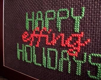PDF Cross Stitch Pattern - Happy Effing Holidays - original design