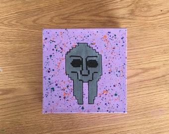 Doom Mask 8 Bit Handmade Painting