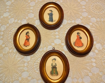 Four Framed Victorian Children