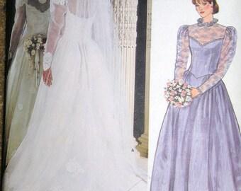VOGUE Bridal Original Wedding Dress Pattern size 16 Uncut and Complete