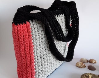 Tote cotton bag, tote for summer, summer crochet bag, summer beach bag, large crochet tote, tote hand bag, beach tote bag,  bigs bags