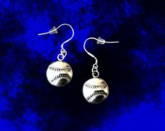 Baseball Earrings. Softball Earrings. Baseball Dangle  Earrings. Baseball Coach Gift. Softball Coach Gift. Baseball Fan Gift. Gift For Her