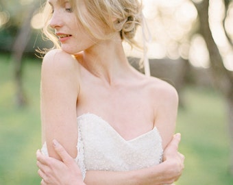 Kristall Braut Stirnband Haarrebe, Haarschmuck, Kristall Braut Krone Tiara, Perle Kristall floralen Kopfschmuck - Art-505