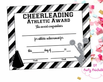 Cheer certificate etsy instant download cheerleading certificate cheerleading award cheerleading printable cheerleading achievement end yadclub Image collections