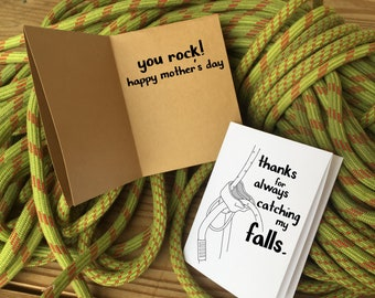 Mother's Day Card Rock Climbing Printable Card, Step mom opt