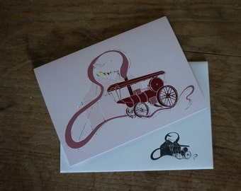 Traction Engine // Steam Stack // Greetings Card