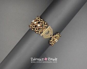 Bracelet Beading PATTERN  - RounDuos Bracelet - Beading TUTORIAL - Wear Me Tonight! Bracelet