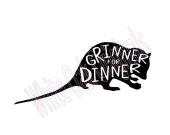 Grinner for Dinner svg
