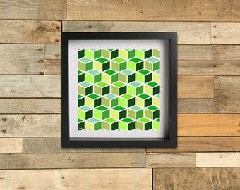 Geometric Cubes - Spring