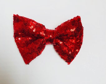 Red sequin bow