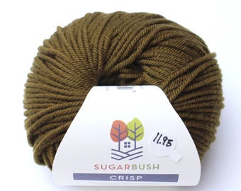 15%OFF Superwash Merino Wool in Crisp- Brown Bear Khaki DK Double Knit  Weight Yarn 95 yards 87 Meters 50gram Ball for knitting